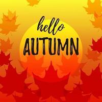 herfstbanner met esdoornbladeren. plaats voor tekst. vector illustratie