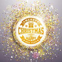 Vrolijke Kerstmis en gelukkig Nieuwjaar illustratie