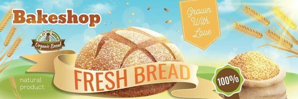 winkelposter voor gebakken voedsel vector