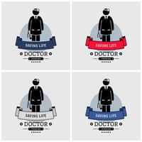 Doctor logo ontwerp. vector