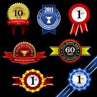 Seal en Award set. vector