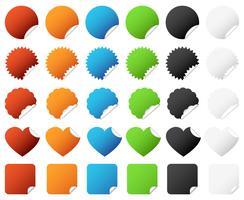 Sticker Badge Set Vector. vector