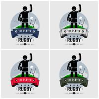 Rugby club logo ontwerp.