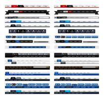 Webontwerp Menu Navigatiekop. vector