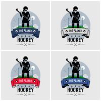 Hockey club logo ontwerp. vector