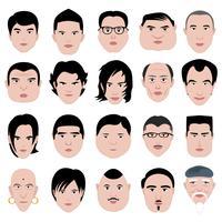 Mannelijke gezichten vector