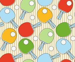 Naadloze patroon Ping pong-racket. Competitietafeltennis.