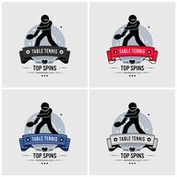 Ontwerp van het logo voor tafeltennisclubs.