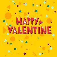 Happy valentine hand belettering