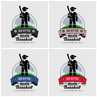 Honkbal club logo ontwerp.