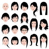 Vrouwelijke gezichten vector