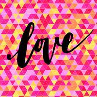 Inscriptie liefde, handgetekende labels voor wenskaarten,