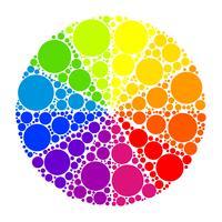 Kleurenwiel of kleurencirkel vector