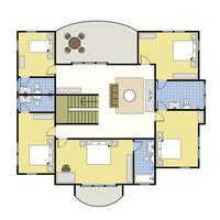 Plattegrond Architectuurplan Huis. vector