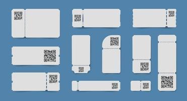 qr-code tickets ingesteld vector