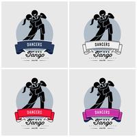 Dansclub of klasse logo-ontwerp. vector