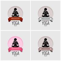 Yoga logo ontwerp. vector