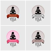 Yoga logo ontwerp.