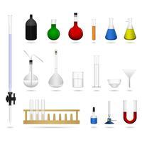 Wetenschappelijk laboratorium laboratoriumapparatuur hulpmiddel. vector
