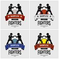 MMA mixed martial arts-logo ontwerp.