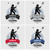 Badminton club logo ontwerp. vector