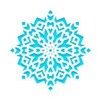 Sjabloon sneeuwvlokken laser gesneden en gegraveerd. vector