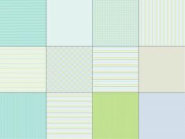 Blauwgroene strepen & geruite patronen vector