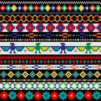 Native American kralen border patronen vector