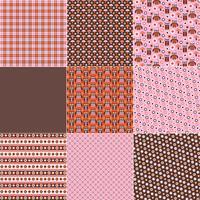 Roze oranje bruine uil patronen vector