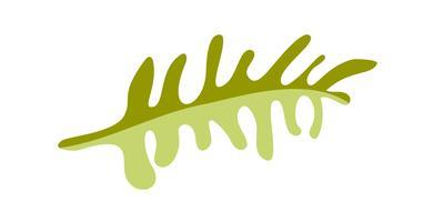 Vector platte abstracte groene planten bloem kruiden pictogram