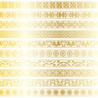 gouden kant grenspatronen vector