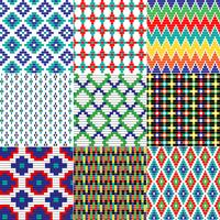 naadloze gerolde geometrische patronen vector