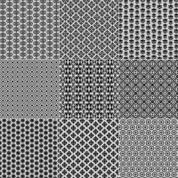 Zwarte kanten patronen vector