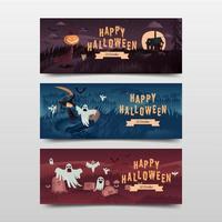 halloween banner collectie vector
