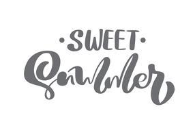 Borstel kalligrafie belettering samenstelling tekst Sweet Summer