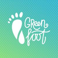 Groene voet. Health Center orthopedische ecologische salon.