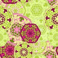 Zigeuner naadloze patroon van abstracte veelkleurige ronde mandala's.