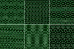 Keltische knooppatronen op zwarte achtergrond vector