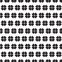 Zwart-wit naadloze patroon met klaverbladeren vector