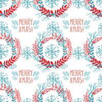 Naadloos patroon van Kerstmiskronen. vector