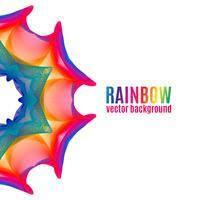 Rainbow Star-achtergrond. vector