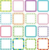 Mod Vierkante Frames Clipart vector