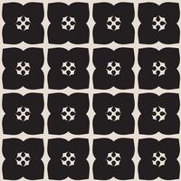 Universele zwart en wit naadloze patroon tegels. vector