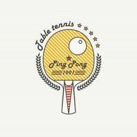 Logo League Tafeltennis. Ping pong vector