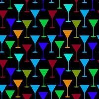 martini glas naadloze patroon vectorillustratie vector