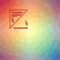 Driehoekige veelhoekige achtergrond