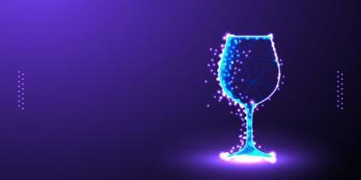 glas laag poly draadframe vector