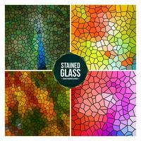 Veelkleurige gebroken gebrandschilderd glas achtergrond instellen vector