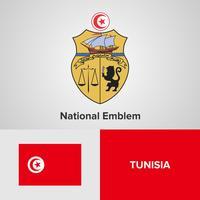 Nationaal embleem, kaart en vlag vector