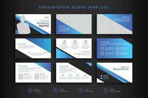 sjabloon voor zakelijke presentatiedia's vector